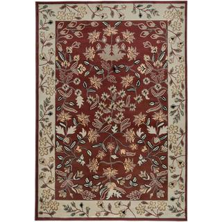 Power Loomed Handicraft Imports Gibraltar Red Area Rug (9'2 X 12'6)