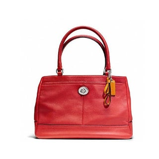 Coach Women's Red Park Leather Carryall Shoulder Bag
