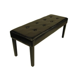 Tomas Brown Faux Leather Bench