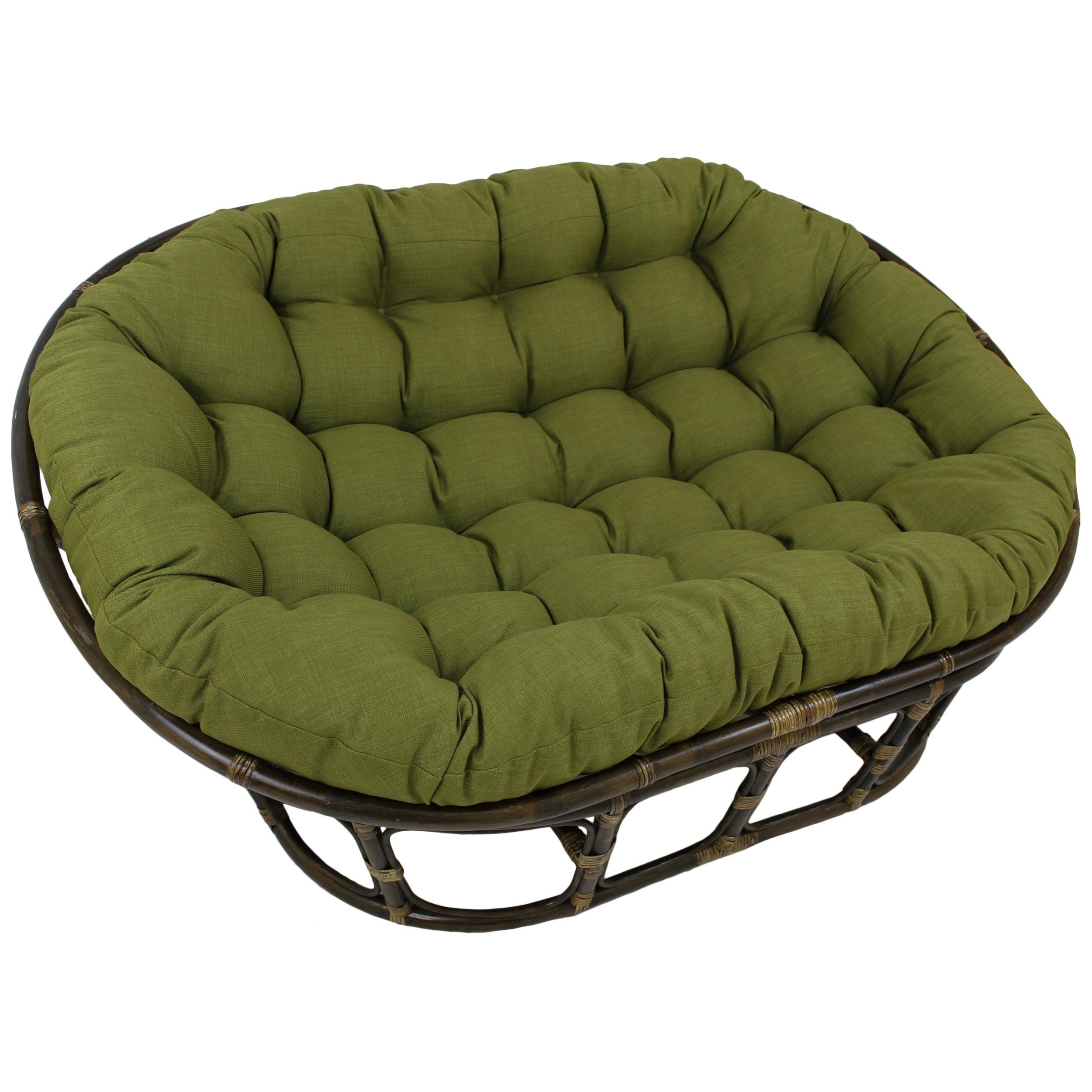 Blazing Needles 48x65-inch Indoor/ Outdoor Double Papasan Cushion ...