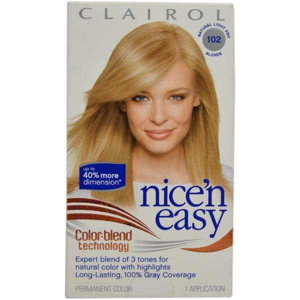 Clairol Nice'n Easy Color Blend # 102 Natural Light Ash 1 Application Hair Color
