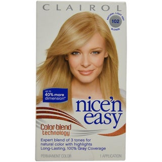 Clairol Nice'n Easy Color Blend # 102 Natural Light Ash 1 Application Hair Color