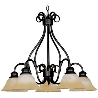 Pacific 5-light Bronze Chandelier