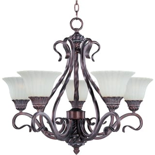 Via Roma 5-light Greek Bronze Chandelier