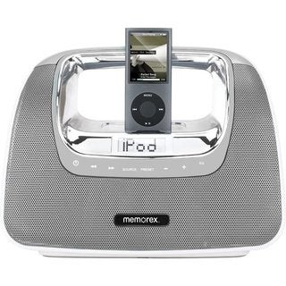 Memorex miniMove Boombox for iPod Silver (Manufacturer Refurbished)