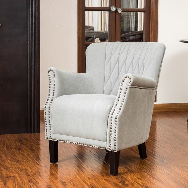 Dorset Quilted Mushroom Fabric Club Chair