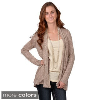 Journee Collection Juniors Solid Long-Sleeve Open-Front Cardigan