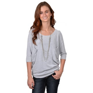 Journee Collection Junior's Side Pocket Dolman Sleeve Top