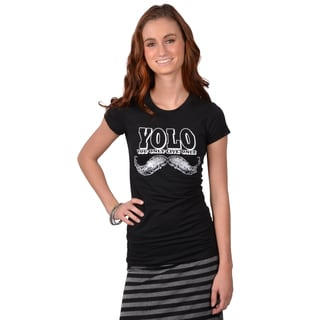 Journee Collection Junior's Short-sleeve YOLO Tee