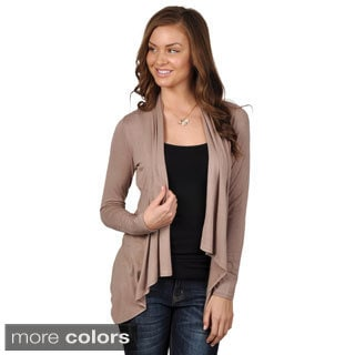 Journee Collection Juniors Black Long-Sleeve Open-Front Cardigan