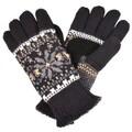 Isotoner Women's Fair Isle Knit Snowflake Pattern Gloves