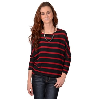 Journee Collection Junior's Striped Hi-lo Top