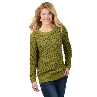 Journee Collection Junior's Two-tone Textured Sweater