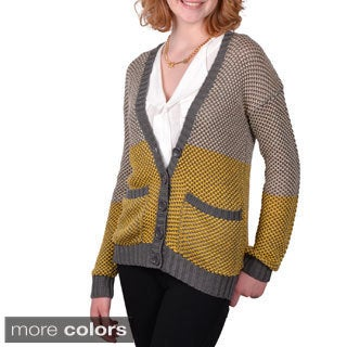 Journee Collection Junior's V-neck Cardigan Sweater