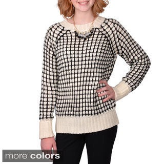 Journee Collection Junior's Textured Knit Sweater