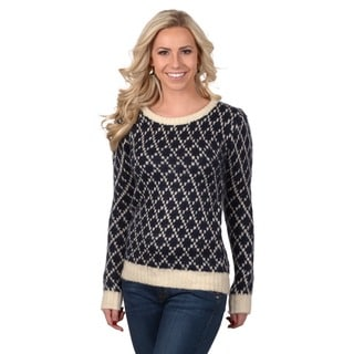 Journee Collection Junior's Patterned Knit Sweater