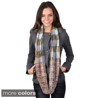 Journee Collection Women's Multi-color Ruched Figure 8 Scarf