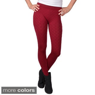 Journee Collection Junior's Textured Seamless Leggings