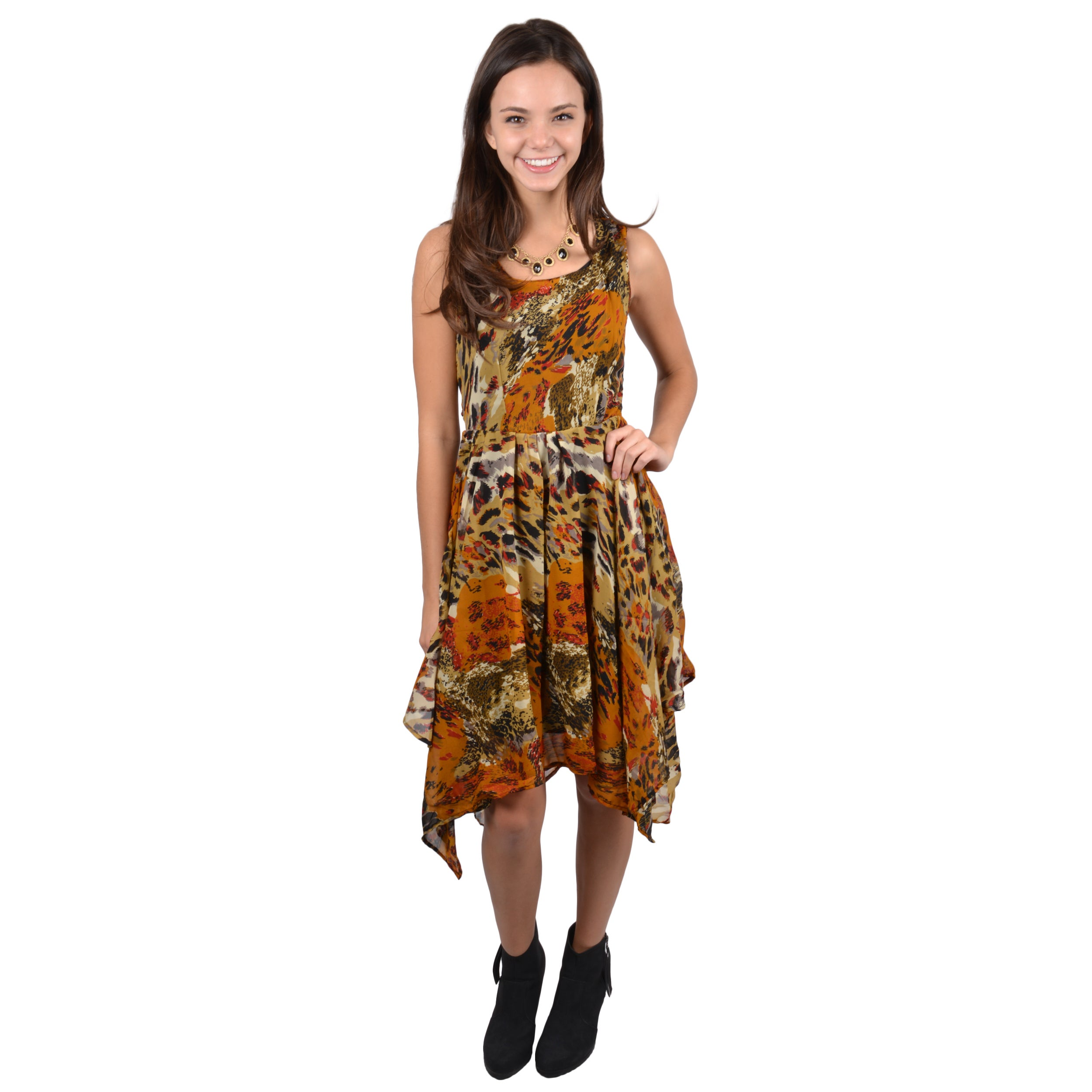 Journee Collection Women's Asymetrical Hem Sleeveless Dress at Sears.com