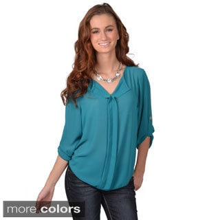 Journee Collection Junior's Hi-lo Chiffon Top