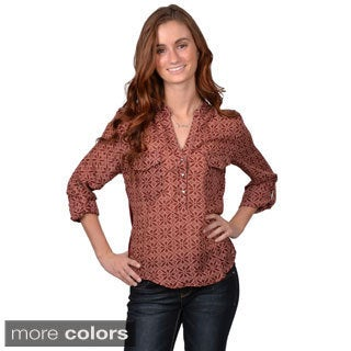 Journee Collection Juniors Printed Lightweight Top