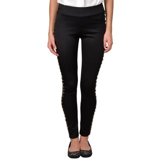 Journee Collection Junior Stretchy Stud Detail Leggings