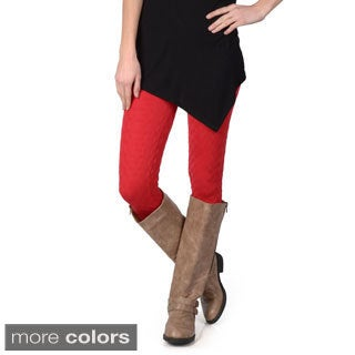 Journee Collection Juniors Textured Seamless Elastic-Waist Leggings
