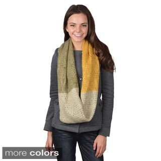 Journee Collection Women's Colorblocked Knit Figure 8 Scarf