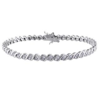 Miadora Sterling Silver 1ct TDW Diamond Bracelet (J-K, I2-I3)