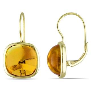 Miadora 14k Yellow Gold 14ct TGW Citrine Dangle Earrings