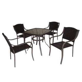 At Leisure 5-piece Woven Dining Set