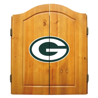 NFL Green bay Packers Wooden Dartboard Cabinet Set