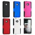 Gearonic Hybrid Rugged Hard PC Soft Silicone Case Cover for HTC One M7