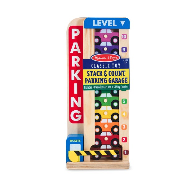 Melissa & Doug Stack & Count Parking Garage