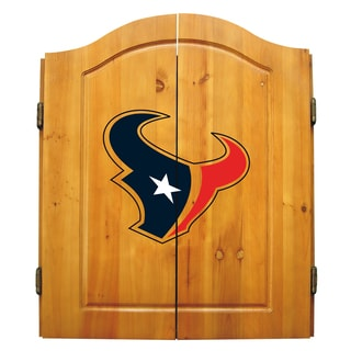NFL Houston Texans Wooden Dartboard Cabinet Set