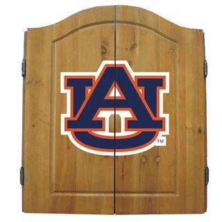 NCAA Auburn Tigers Wooden Dartboard Cabinet Set