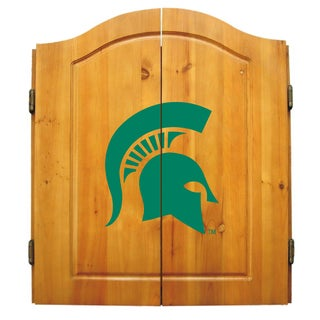 NCAA Michigan State Spartans Dartboard Cabinet Set