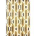 nuLOOM Handmade Oblong Geometric Brown Rug (5' x 8')