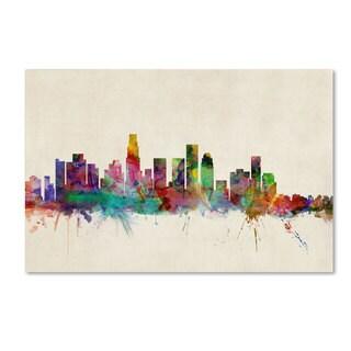 Michael Tompsett 'Los Angeles California' Canvas Art