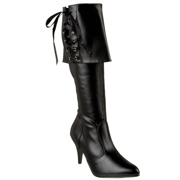 Funtasma Women's 'PIRATE-130' Black Folded Cuff Knee-high Boots