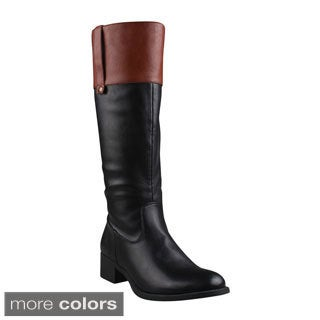 Refresh Women's 'Alto-03' Side Zip Comfort Riding Boots