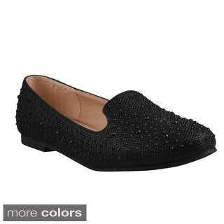 Refresh Women's 'Belin-17' Rhinestone Studded Loafer Flats