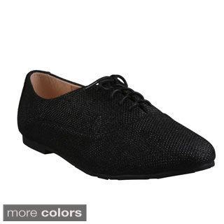 Refresh Women's 'Galen-12' Lace-up Casual Oxford Shoes