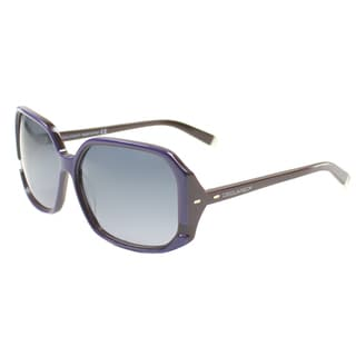 'Dsquared 052 83B' Purple/ Brown Oversize Sunglasses