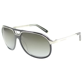 'Dsquared 061 05B' Black/ Silver Plastic Aviator Sunglasses