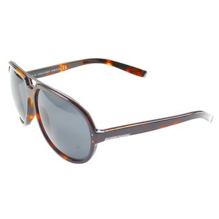 'Dsquared 006 54A' Tortoise Plastic Aviator Sunglasses