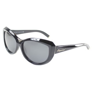 'Dsquared 047 01A' Black Plastic Cat Eye Sunglasses