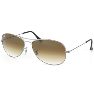 Ray-Ban 'RB 3362 Cockpit 004/51' Unisex Gunmetal/ Brown Gradient Metal Sunglasses