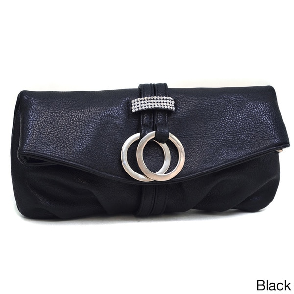 Dasein Ring Tassel Fold-over Clutch Purse