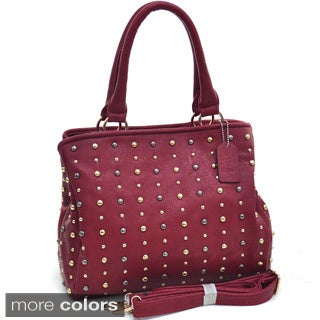 Dasein Studded Dot Satchel Bag